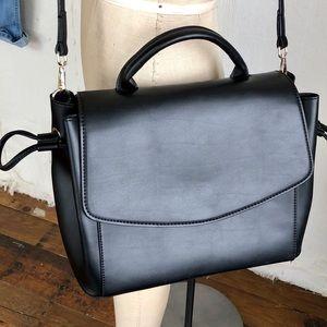 Zara Vegan Leather Crossbody Tote